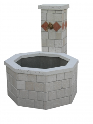 Fontana Romeo ott cm80 travertino
